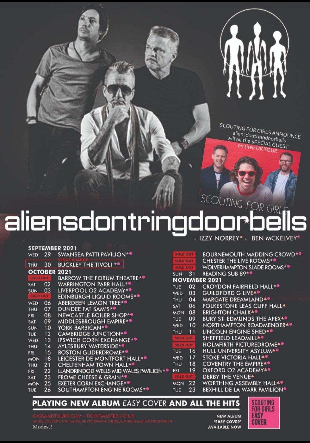 aliensdontringdoorbells tour announced